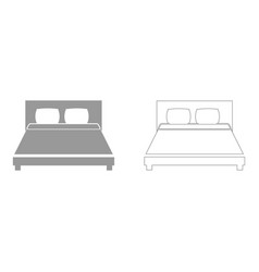 bed the grey set icon vector image vector image