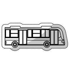 bus transport urban service outline vector image