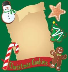 christmas cookie recipe or invitation vector image vector image