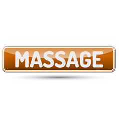 massage - abstract beautiful button with text vector image