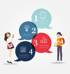 Students with education icons design vector