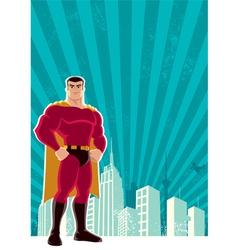 superhero city vector image vector image