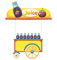 A pushcart selling fruit juice vector image
