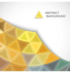 abstract background of colored triangles vector image