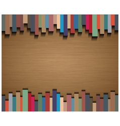 Abstract straight lines and brown paper background vector