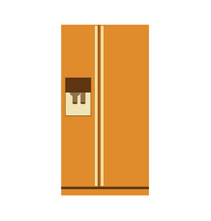 Aged silhouette of fridge with water dispenser vector