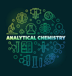 Analytical chemistry colorful round outline vector