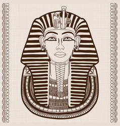 Ancient egyptian mask vector