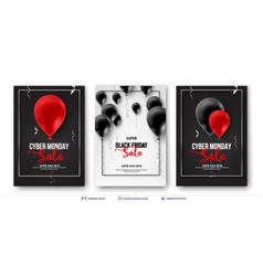 black friday sale backgronds set vector image