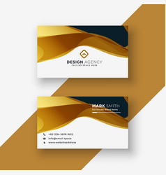 Business card design in golden style vector
