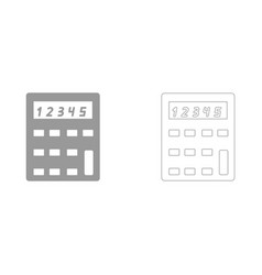 Calculator the grey set icon vector