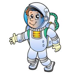 cartoon astronaut vector image