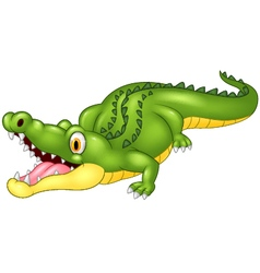 Cartoon crocodile happy vector