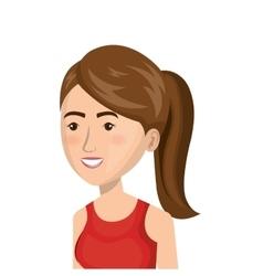 cartoon girl run activity icon vector image