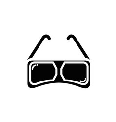 Contour 3d glasses to see movie in the cinema vector
