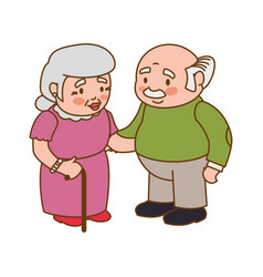 Couple elder adults vector