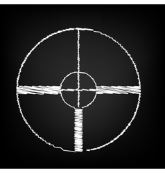 Crosshair Target sign vector image vector image