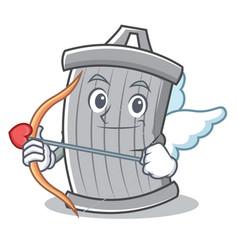 Cupid trash character cartoon style vector