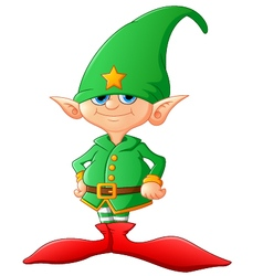 Cute and happy Christmas elf vector