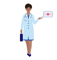 Doctor with briefcase and stethoscope vector