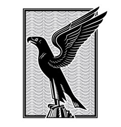 eagle stylized image an eagle with vector image