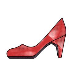 elegant heel female icon vector image