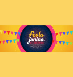 Festa junina awesome decorative celebration vector