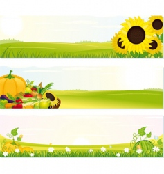fresh nature banners vector image
