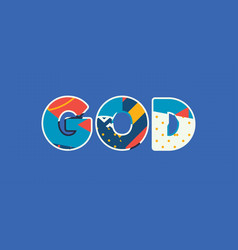 God concept word art vector