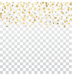 gold star confetti background vector image