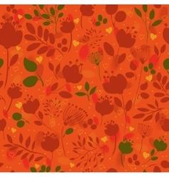 Graceful Autumn Flowers Fall Seamless Pattern vector