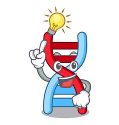 Have an idea dna molecule mascot cartoon vector
