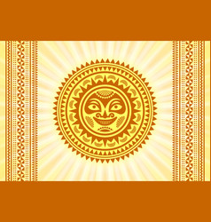 hawaiian sun sign in polynesian style with vector image