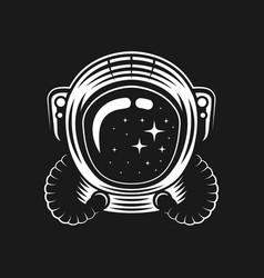 Helmet astronaut on black vector