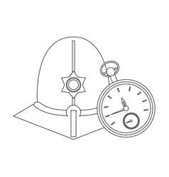 London custodian helmet in black and white vector