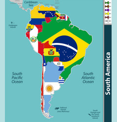 Map south america vector
