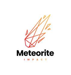 Meteor impact geometric polygonal logo icon vector