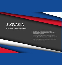 modern background with slovak colors and grey vector image