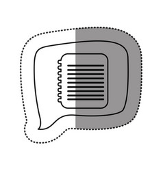monochrome contour sticker with spiral notebook vector image vector image
