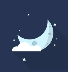 moon crestcent icon set of great flat icons with vector image