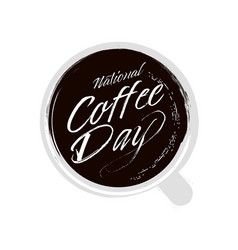 National coffee day hand drawn vector