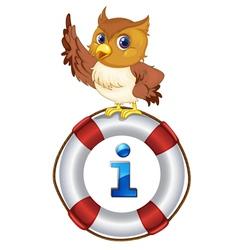 Owl Kiosk Sign vector