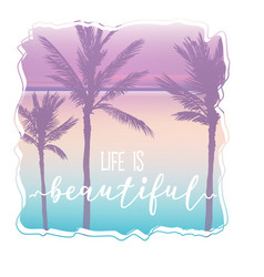palm beach t-shirt graphic and beautiful lettering vector image