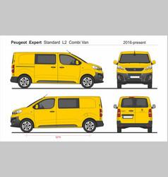 Peugeot expert combi standard van l2 2016-present vector