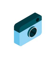 photo camera social media isometric icon vector image