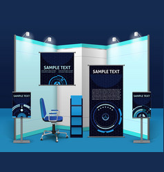 Promotional Exhibition Stand Template vector