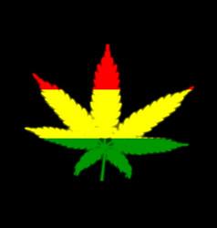 Rasta leaf flag cutaway vector