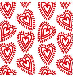 red hearts love sunburst decoration seamless vector image