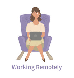 Remote work concept vector