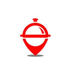 restaurant location logo icon vector image
